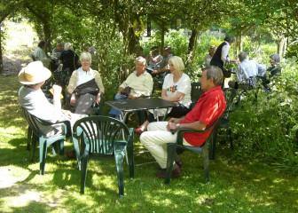 Relaxing at an open garden